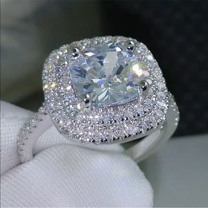 Jewelry - New! Dazzling Cushion Cut Topaz & Sterling Ring